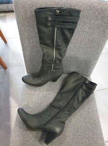 Women's Boots  Black  Size 6.5  Knee High Ladies Black Boots