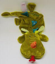 doudou plat Walter le dragon vert LILLIPUTIENS attache tétine  NEUF