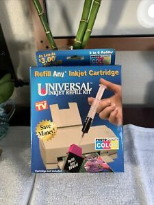 Universal Color & Black Inkjet Printer Cartridge Ink Refill Kit As Seen On TV