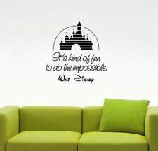 Walt Disney Quote Wall Sticker Castle Sign Vinyl Decal Art Poster Decor 102qz