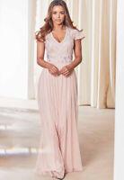 BNWT Sistaglam Blush Lillis Embellished Maxi Dress UK 10 RRP £125