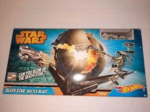 Hot Wheels Star Wars Death Star Battle Blast Mattel Car Track System NIB