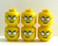 LEGO 6 têtes de tête pour garçon homme figurine Noir Argent Lunettes de soleil Lunettes de soleil