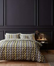 Terence Conran OFFSET Designer Multi Geo Bedding 100% Cotton Duvet Cover Set