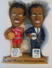 DR J JULIUS ERVING 2003 Philadelphia 76ers Orlando Magic SGA Dual Bobblehead