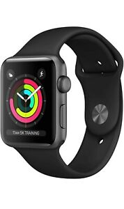 Apple Watch Series 3 38mm Space Gray Aluminium Case with Gray Sport Band GPS