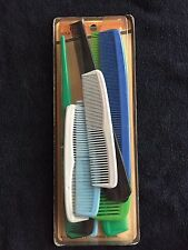 Gold Crest Vintage pack of combs - New / sealed in box set! Unisex - like ACE