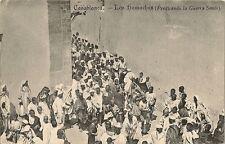 CARTE POSTALE TARJETA POSTAL CASABLANCA LOS HAMACHAS  PREDICANDO LA GUERRA SANTO