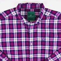 Southern Tide Mens Button Front Collared Shirt  Checks Size Medium L/S