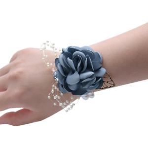 Wedding Hand Wrist Flowers Corsage Bouquet Party Bridesmaid Wrist Flower Decor