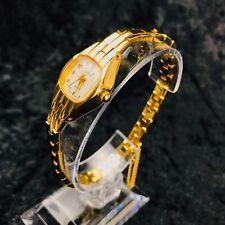 Reloj De Pulsera Reloj de señoras de diseñador JD Diana Tono Oro Hermoso Estilo