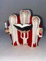 Department 56 Christmas Figure BAREFOOT SANTA Choir Trio Candle Songbook