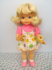 Adorable Vintage All Vinyl/Plastic Timey Tell Baby Doll by Mattel, 1970