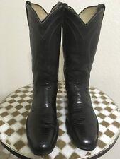 f517bf11e5 Vintage USA DAN Lagarto occidental de cuero negro POST botas de vaquero 9.5  D