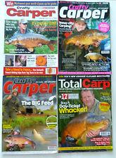 4 x Crafty Carper & Total Carp Magazines - 2004 -2012- 2013