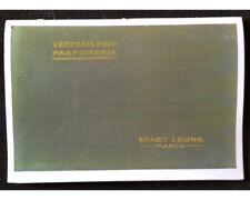Catalogue Verrerie LEUNE (Carte Parfumée, parfum) glassmaking perfumer
