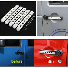 5pcs/set White 4 Door Grab Handle Bar Trim Cover For 2007-2017 Jeep Wrangler #B