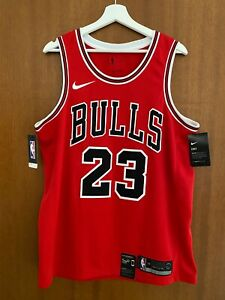 Michael Jordan Nike Authentic Chicago Bulls NBA Swingman Icon Jersey Size 48 L