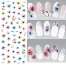 Nail Art Water Decals Stickers Transfers Water Effect Flowers Tulips Floral 310