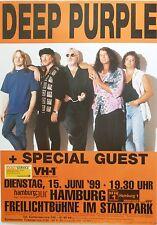 Deep Purple 1999 Hamburg Konzert Tour Poster-Group Standing zusammen