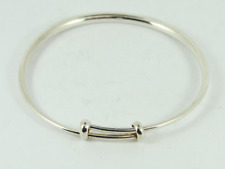 Ladies Stunning Bangle Sterling Silver Bracelet 925 14.5g Fz49