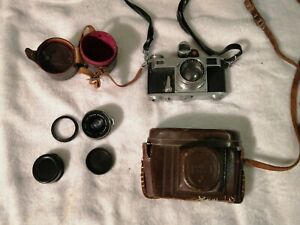 ZEISS CONTAX IIA RANGEFINDER CAMERA W/SONNAR 50MM F/2 T ZEISS-OPTON WITH A-PIECE