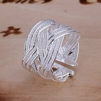 beautiful Fashion solid silver new Pretty cute open mesh party Ring jewelry hot