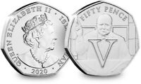 2020 Isle of Man VE Day V 50p coin - Uncirculated
