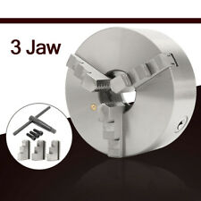 3 Jaw 8'' Lathe Chuck Self-Centering Hardened Steel CNC Drilling Milling K11-200