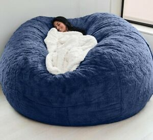 Microsuede Foam Giant Bean Bag Lazy Sofa Cover Memory Living Room withoutfilling