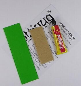 Opttiuuq Cricket Bat Repair Kit 1 Toe Guard Set Glue Fixing Guide -1- Fluo Green