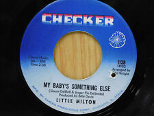 Little Milton 45 MY BABY'S SOMETHING ELSE bw YOUR PEOPLE   Checker M-