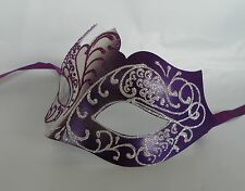Purple & Silver Masquerade Mask - Express Post Option Available