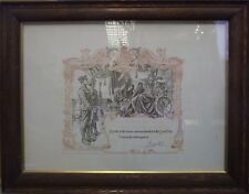Framed WW1 Discharge Certificate 35944 William Pinder Northumberland Fusiliers.