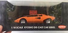 Kyosyo 1:18 ORANGE Lamborghini Countach LP400 die-cast #08321P NIB ***RARE***