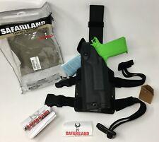 Safariland® 6004 SLS™ Tactical LH Leg Holster STX Black, 1911 w/ LIGHT - LEFT