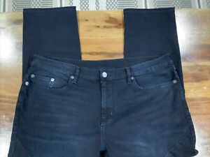 """True Religion """"ROCCO"""" Jeans Men's 40x27 Relaxed Skinny Black 200"""