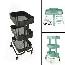 Kitchen Trolley Cart Slim Rolling Three Tiers Storage Rack Trolley With Wheels