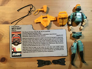 Vintage 1986 GI Joe WET-SUIT Figure Complete W/ Filecard