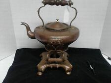 Handmade copper Samovar tea set origin unknown