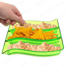 COLOUR SERVING PLATTER Dip Bowl Snack Tapas Dish/Tray Nacho Finger Food Bowl