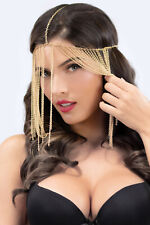 New Sexy intimates Women's costum chain veil headpiece one size Gold 40174