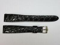 "Vintage Bulova Accutron Corfam Gator Croco Grain 11/16"" ~18mm Watch Band Strap"