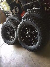 "20"" Fuel D610 Maverick Gloss Black Wheels 35"" MT Tires 6x5.5 Chevy GMC Package"