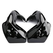 ABS Painted Black Lower Vented Leg Fairings Set For Harley Davidson Road King