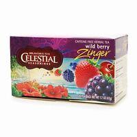 Celestial Seasonings Tea Caffeine Free Herbal Tea, Wild Berry Zinger 20 ea (2pk)
