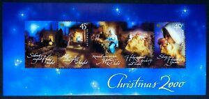 Australia - 2000 - Christmas Mini Sheet - Unmounted Mint.