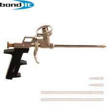NEW PROFESSIONAL EXPANDING FOAM PU GUN GRADE APPLICATOR HEAVY DUTY CHROME BONDIT