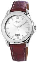 Flair Herrenuhr Silber Braun Datum Edelstahl Leder Armbanduhr X200722500026