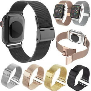 For Apple Watch Mesh Band Stainless Steel For iWatch Strap Series SE 6/5/4/3/2/1